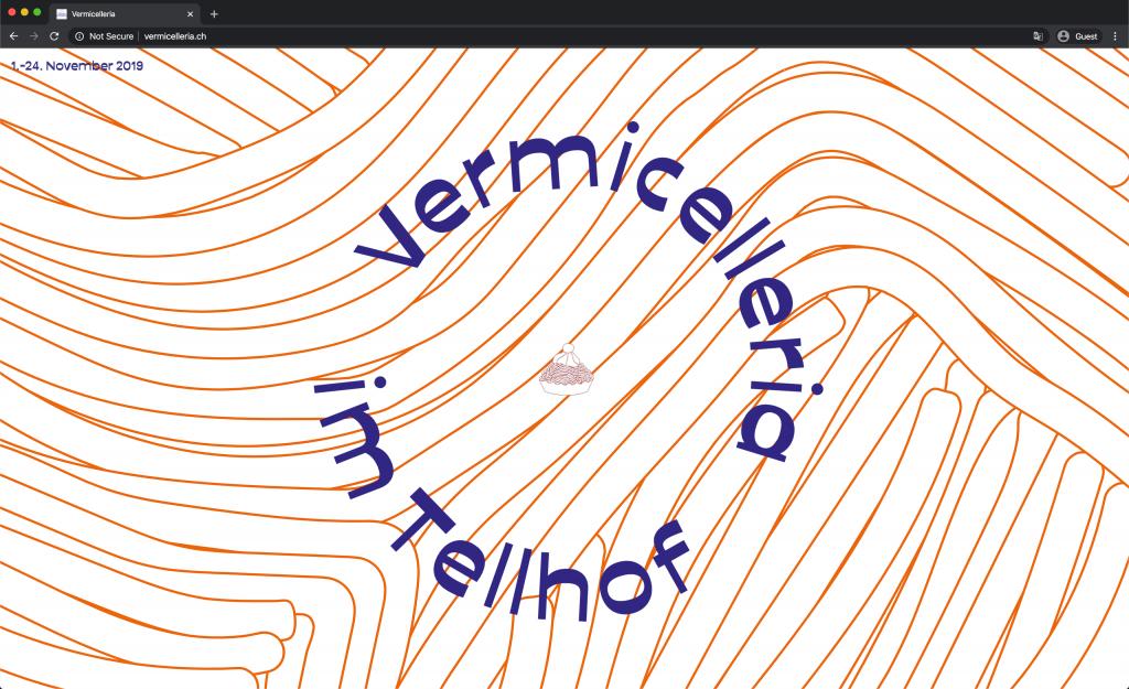 Screenshot Vermicelleria Website