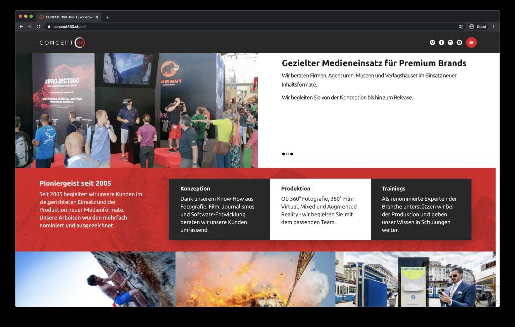 Screenshot Concept 360 Website